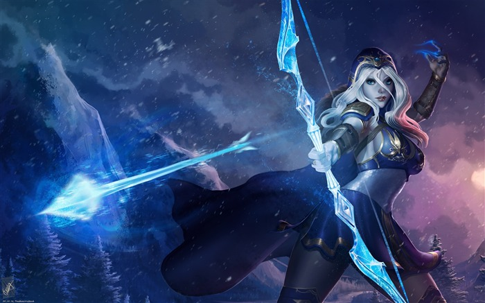 Ashe league of legends-2017 Game HD Wallpaper Views:446