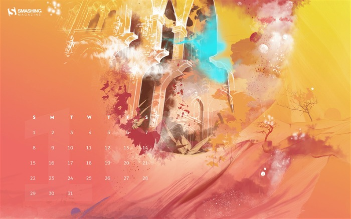 Autumn Gate-October 2017 Calendar Wallpaper