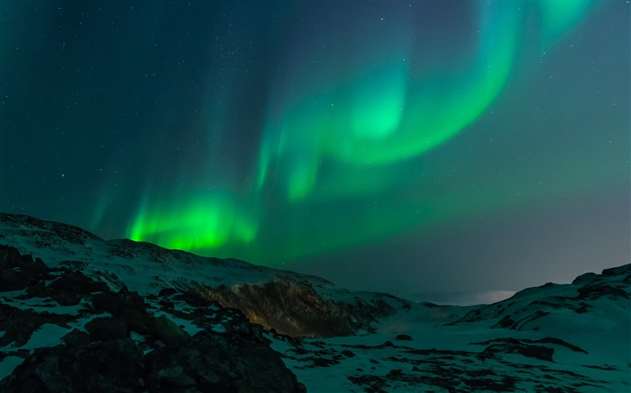 Beautiful Aurora Night Star Sky HD Wallpaper 07