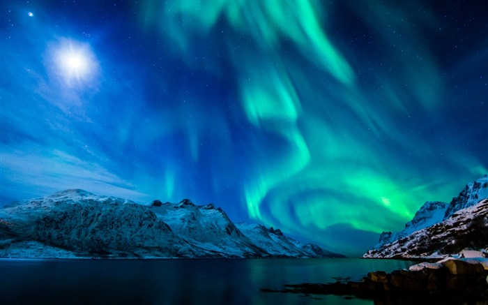 Beautiful Aurora Night Star Sky HD Wallpaper Visualizações:4100