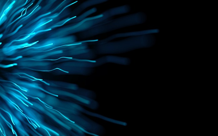Blue Dark abstract particles-Design HD Wallpaper Views:357