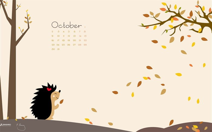 Happy Fall-October 2017 Calendar Wallpaper Views:1030