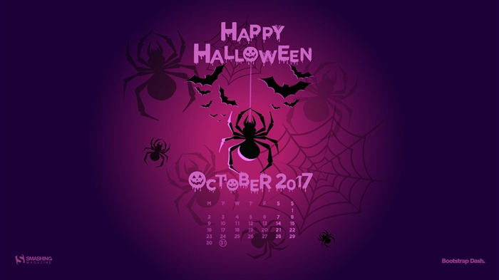 Happy Halloween-October 2017 Calendar Wallpaper Views:609