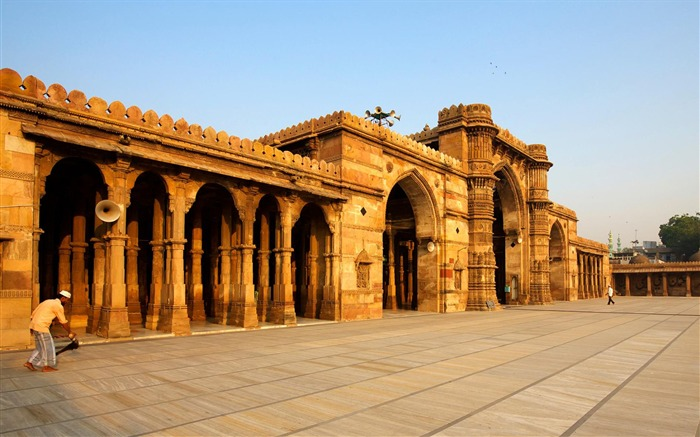 Mosque Ahmedabad City India-National Geographic Wallpaper Views:332