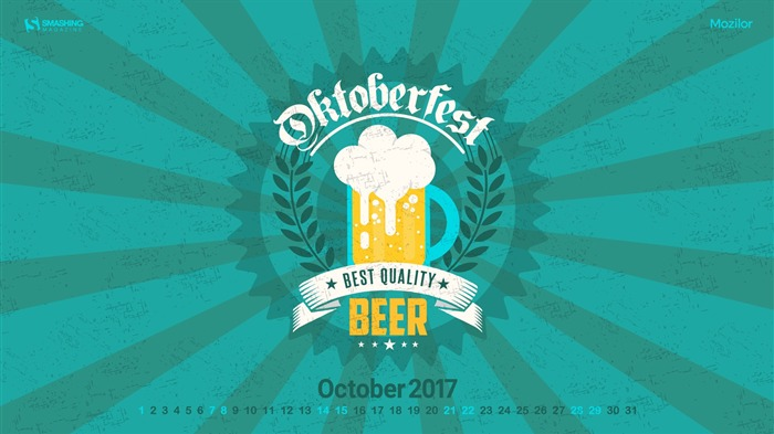 Oktoberfest-October 2017 Calendar Wallpaper Views:289