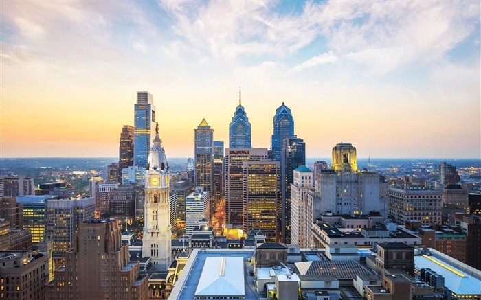 Philly skyscrapers-Cities HD Wallpaper