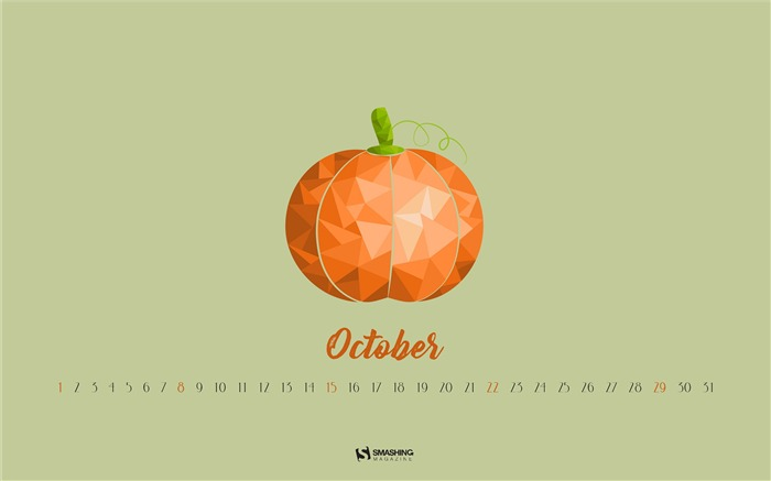 Pumpkin Season-October 2017 Calendar Wallpaper Views:344