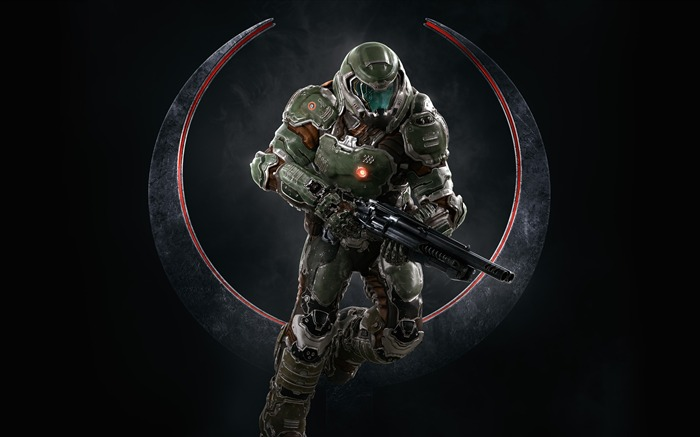 Quake champions doomguy-2017 Game HD Wallpapers Views:417