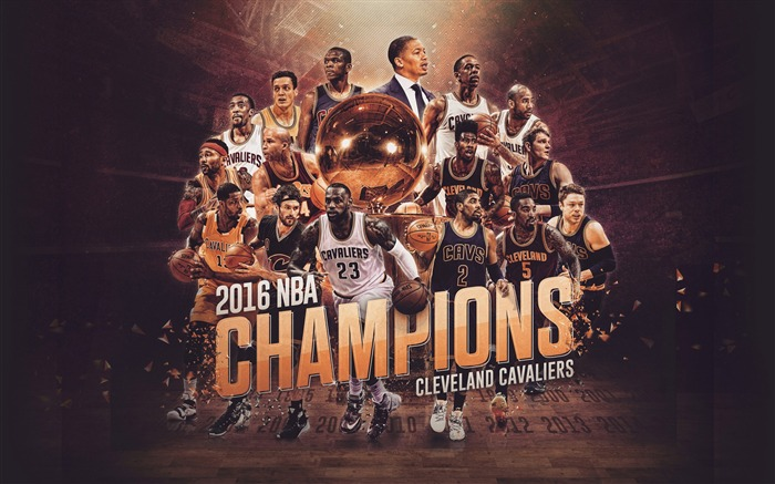 NBA 2017 Cleveland Cavaliers Theme Wallpaper Views:16503