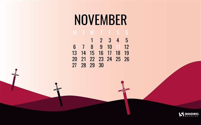Armistice Day November 2017 Calendar Wallpaper Views:706