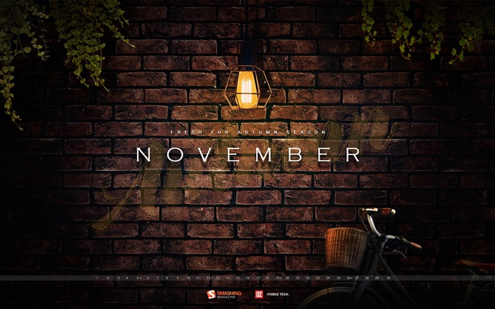 Autumn Darkness November 2017 Calendar Wallpaper Views:681
