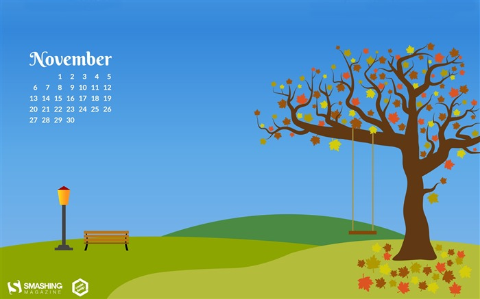 Autumn In The Park November 2017 Calendar Wallpaper Views:757