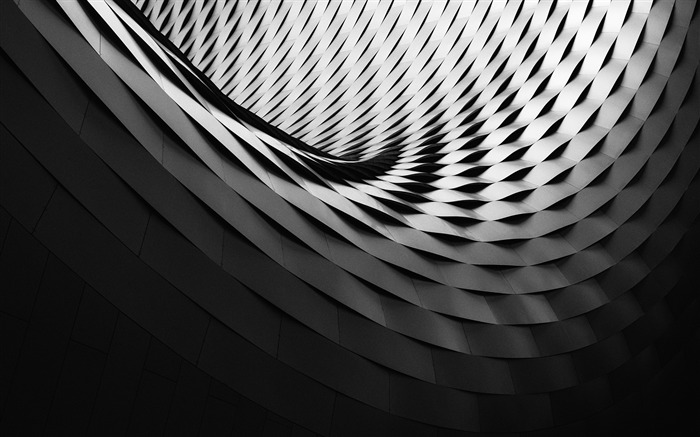 Black white abstract architecture 2017 HD Wallpaper