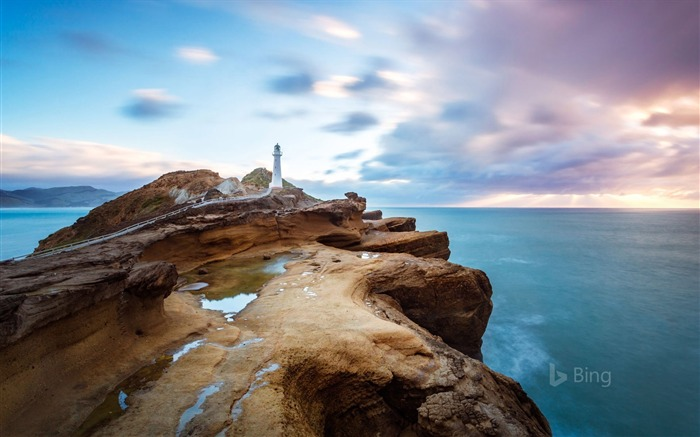 Castle Point Lighthouse near the village of Castlepoint North Island of New Zealand 2017 Bing Wallpaper Views:1161