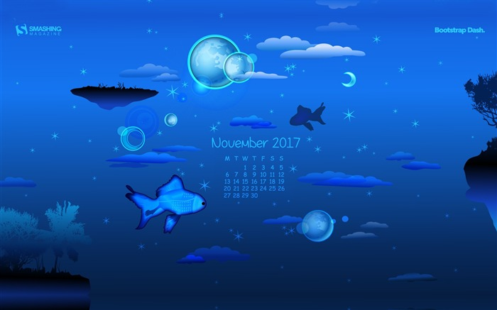 Fantastic Dreams November 2017 Calendar Wallpaper Views:553