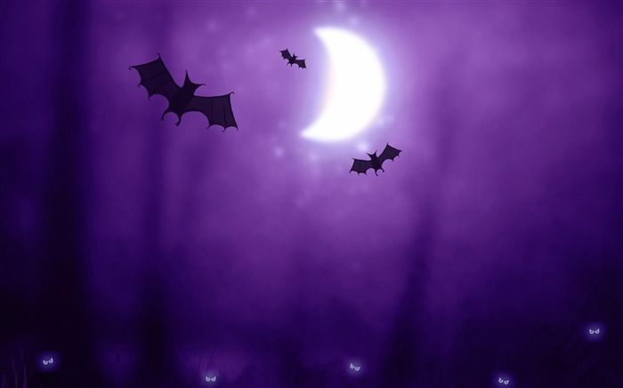 Halloween night bats 2017 HD Wallpaper