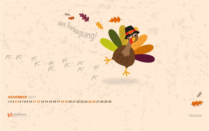 Happy Thanksgiving 2017 Calendar Wallpaper Views:682