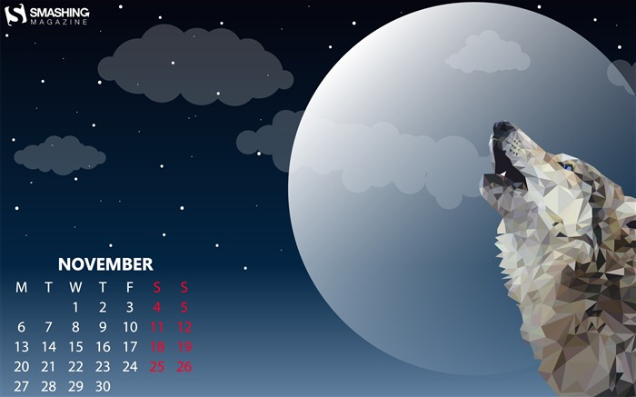 Howling At The Moon 2017 Calendar Wallpaper Views:558
