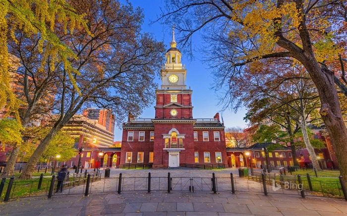 Independence Hall in Philadelphia Pennsylvania 2017 Bing Wallpaper Views:1032