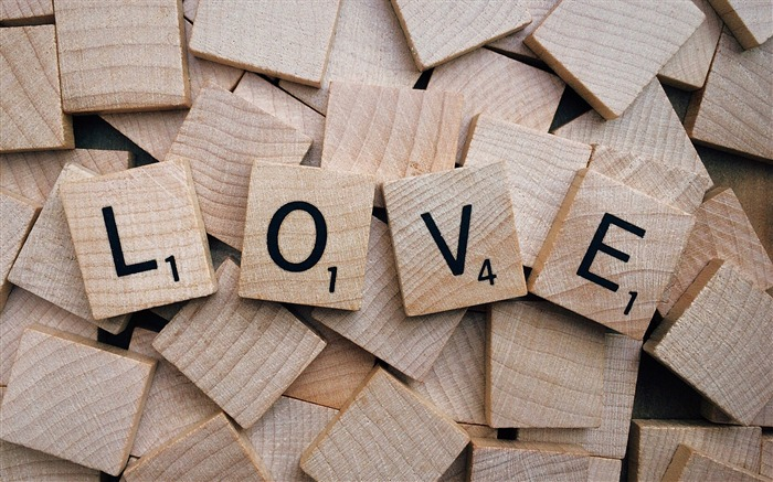 Love scrabble text wood word HD Wallpapers Views:793