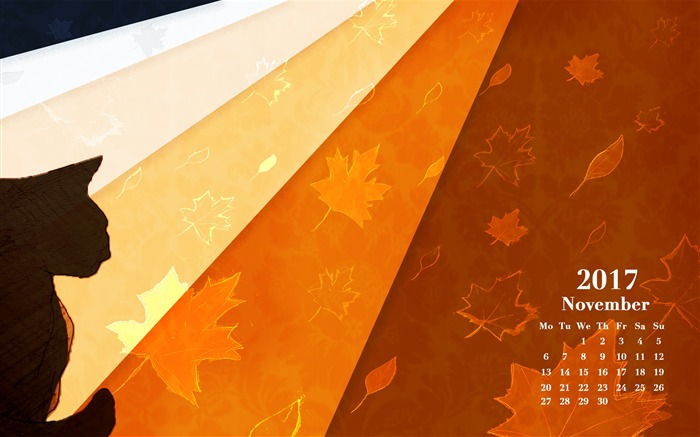 Melancholy November 2017 Calendar Wallpaper Views:621