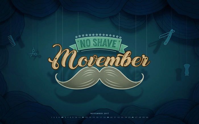 No Shave Movember November 2017 Calendar Wallpaper Views:392