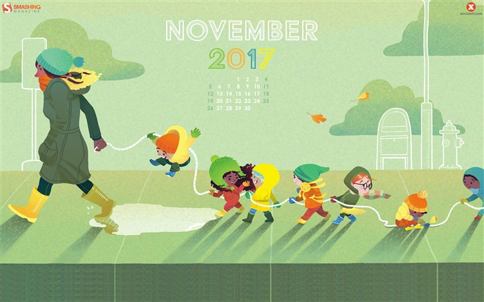 November Fun November 2017 Calendar Wallpaper Views:483