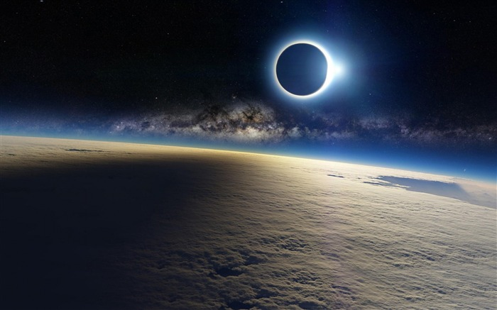 Solar eclipse Earth High Quality Wallpaper Views:300