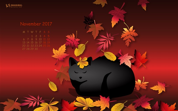 Someone Sleeps More November 2017 Calendar Wallpaper Views:444