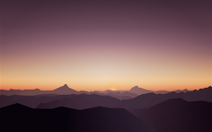 Sunset Mountains Calm High Quality Wallpaper Views:332