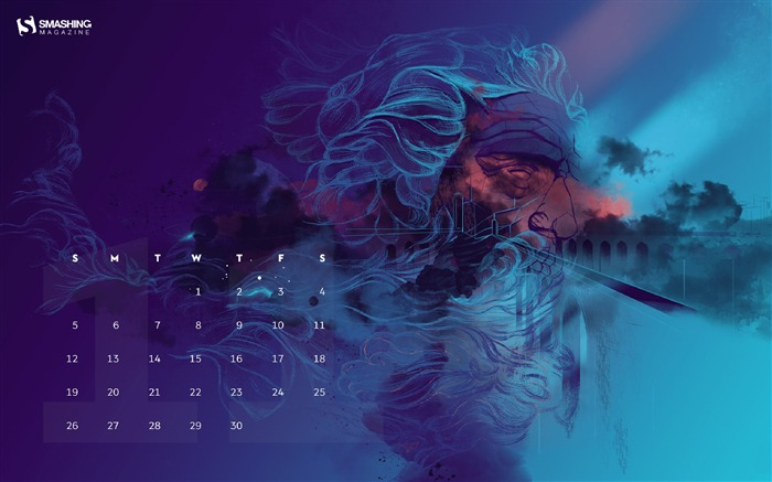 Tempestuous November 2017 Calendar Wallpaper Views:439