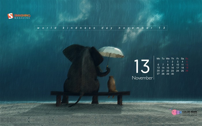 The Kind Soul November 2017 Calendar Wallpaper Views:438