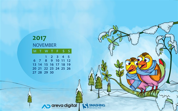 Welcome A Season Of Chilling Joy November 2017 Calendar Wallpaper Views:364