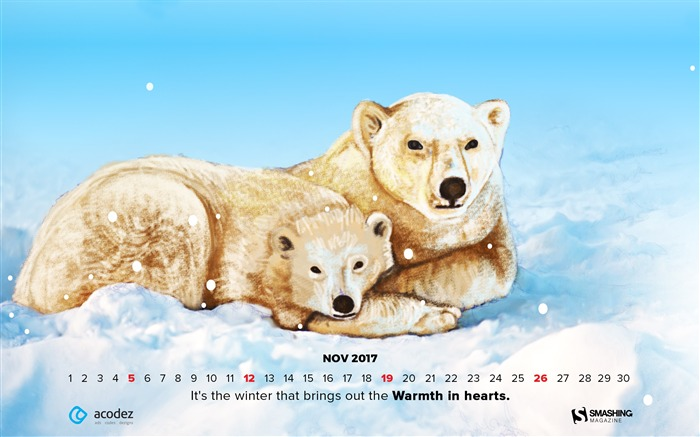 Welcome Winter November 2017 Calendar Wallpaper Views:334