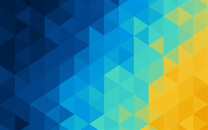 Abstract blue yellow Triangles 2017 Design HD Wallpaper Views:441