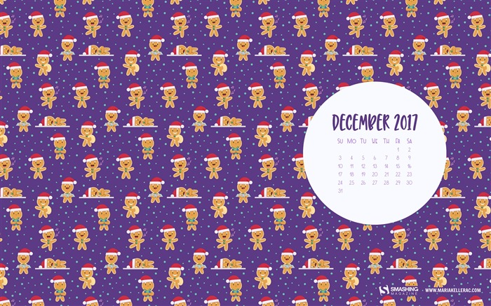 Christmas Cookies December 2017 Calendar Wallpaper Views:449