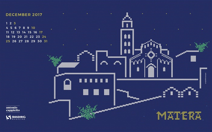 Christmas In Matera December 2017 Calendar Wallpaper Views:457