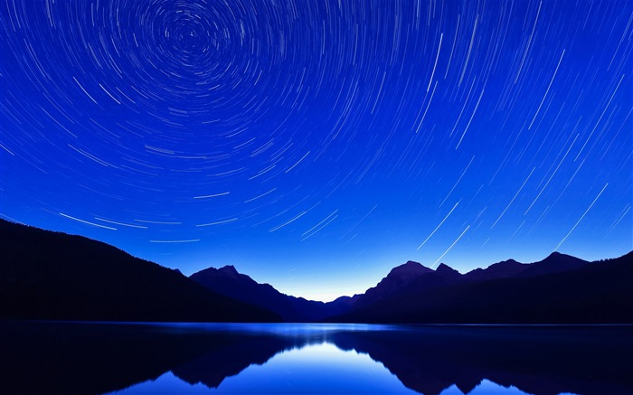 Circle star blue mountains lakes 2017 HD Wallpaper Views:243