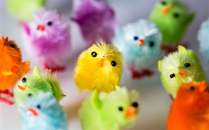 Colorful Cute Chick Toys Decorative 2017 HD Wallpaper Views:724