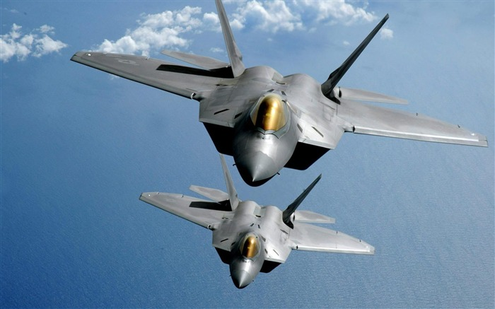 F22 Tandem Flight Aircraft HD Wallpaper Views:438