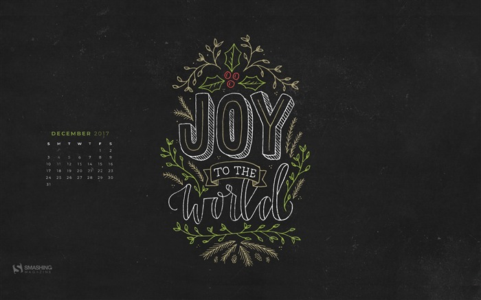 Joy To The World December 2017 Calendar Wallpaper Views:534