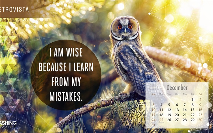 Learn From Your Mistakes December 2017 Calendar Wallpaper Views:609