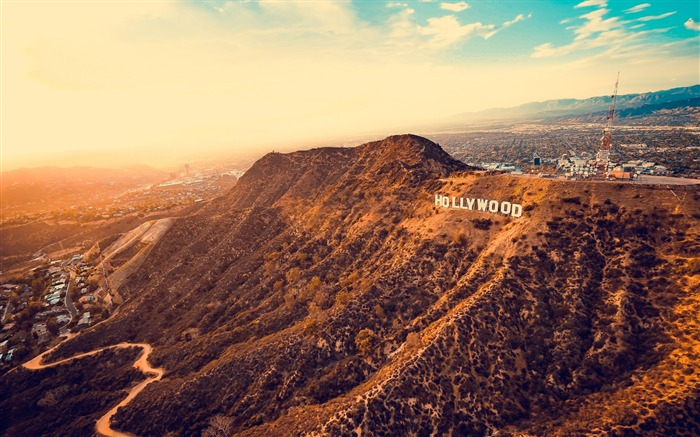 Los angeles hollywood mountains Scenery HD Wallpaper Views:962