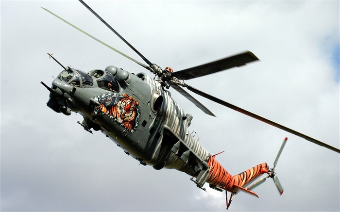 Mil mi 24 tiger Aircraft HD Wallpaper Views:263