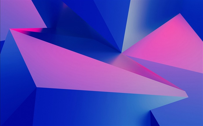 Pink blue 3D edges and corners 2017 Design HD Wallpaper Views:225