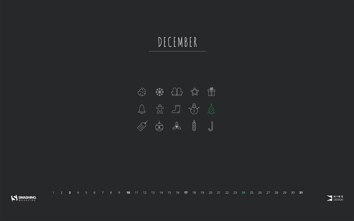 Season Of Joy December 2017 Calendar Wallpaper Views:535