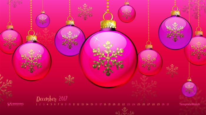 Shining Holidays December 2017 Calendar Wallpaper Views:684