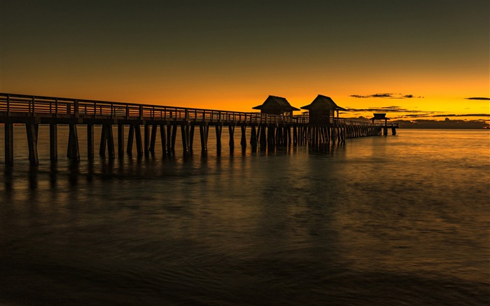Sunset Pier Bridge Florida 2017 HD Wallpaper Views:225