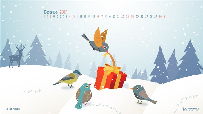 Surprise December 2017 Calendar Wallpaper Views:460