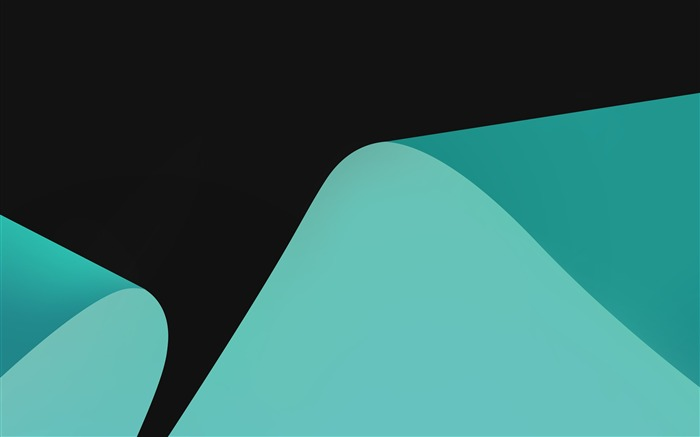 Teal curves turquoise Vector HD Wallpaper Views:588